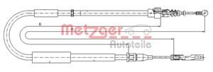 Reservdel:Audi A2 Vajer, parkeringsbroms, Vänster bak