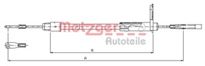 Reservdel:Mercedes A 190 Vajer, parkeringsbroms, Vänster bak