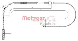 Reservdel:Mercedes A 190 Vajer, parkeringsbroms, Fram, Höger bak