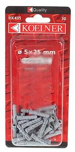 Bildel: Nylonplugg h,5 30 st, Universal