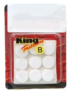 Møbelknotter rund, hvit 15 mm, Universal