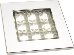Bildel: SQUARE 80 MATT KROM 9 SMD LED
