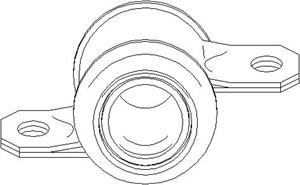 Bussning, länkarm, Bak, Fram, höger eller vänster