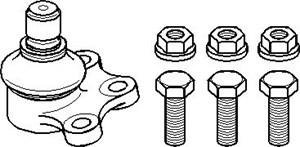 Bærekugle, Foraksel, højre eller venstre