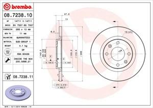 Reservdel:Citroen C3 Bromsskiva, Framaxel