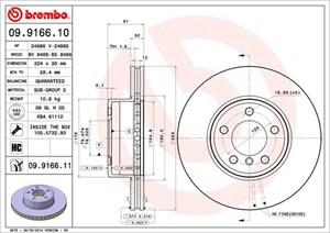 Reservdel:Bmw 740 Bromsskiva, Framaxel
