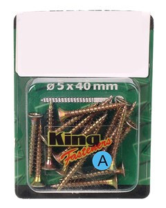 Standardskruv, guls.5x40 1 st, Universal