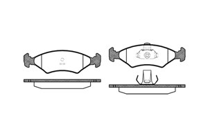 varaosat:Ford Fiesta Jarrupalasarja, levyjarru, Edessä