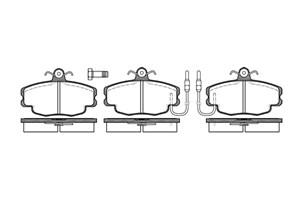 varaosat:Peugeot 205 Jarrupalasarja, levyjarru, Edessä
