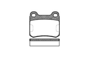 varaosat:Mercedes C 250 Jarrupalasarja, levyjarru, Takana