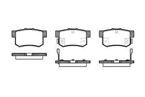 varaosat:Honda Fr-v Jarrupalasarja, levyjarru, Takana