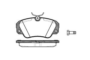 varaosat:Opel Omega Jarrupalasarja, levyjarru, Edessä