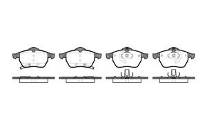 varaosat:Saab 9-5 Jarrupalasarja, levyjarru, Edessä