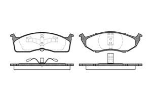 varaosat:Chrysler Neon Jarrupalasarja, levyjarru, Edessä