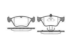 varaosat:Opel Calibra Jarrupalasarja, levyjarru, Edessä