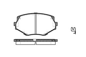 varaosat:Mazda Mx-5 Jarrupalasarja, levyjarru, Edessä