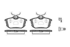 varaosat:Volvo V40 Jarrupalasarja, levyjarru, Takana