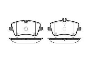 varaosat:Mercedes C 280 Jarrupalasarja, levyjarru, Edessä