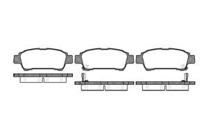varaosat:Toyota Previa Jarrupalasarja, levyjarru, Takana