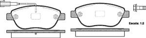 varaosat:Fiat Doblo Jarrupalasarja, levyjarru, Edessä