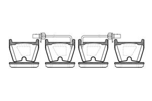 varaosat:Audi A5 Jarrupalasarja, levyjarru, Edessä