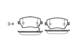 varaosat:Opel Agila Jarrupalasarja, levyjarru, Edessä