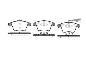 varaosat:Volkswagen Transporter Jarrupalasarja, levyjarru, Edessä