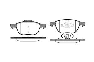 varaosat:Ford Focus C-max Jarrupalasarja, levyjarru, Edessä