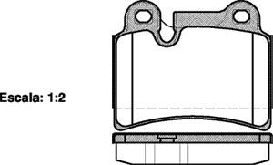 varaosat:Volkswagen Touareg Jarrupalasarja, levyjarru, Takana