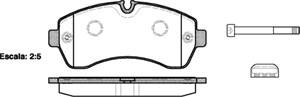 varaosat:Volkswagen Crafter Jarrupalasarja, levyjarru, Edessä