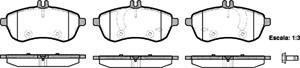 varaosat:Mercedes C 230 Jarrupalasarja, levyjarru, Edessä