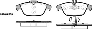 varaosat:Mercedes C 230 Jarrupalasarja, levyjarru, Takana