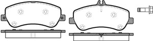 varaosat:Mercedes S 250 Jarrupalasarja, levyjarru, Edessä