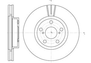 varaosat:Toyota Avensis Jarrulevy, Edessä
