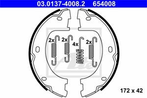Reservdel:Volkswagen Crafter Bromsbackar, sats, Bak