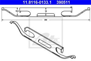 Reservdel:Mercedes E 320 Fjäder, bromsadel, Fram, Framaxel