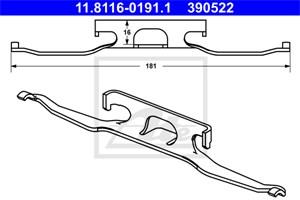 Reservdel:Mercedes Sprinter Fjäder, bromsadel, Bak, Bakaxel
