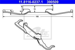 Reservdel:Fiat Doblo Fjäder, bromsadel, Fram, Framaxel
