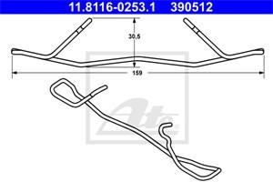 Reservdel:Mercedes E 280 Fjäder, bromsadel, Fram, Framaxel