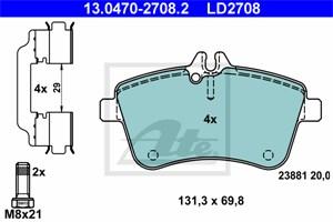 Reservdel:Mercedes A 200 Bromsbeläggsats, Fram