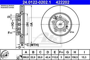 Reservdel:Audi A8 Bromsskiva, Bakaxel