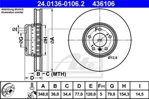 Reservdel:Bmw 650 Bromsskiva, Framaxel