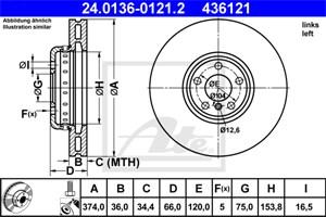 Reservdel:Bmw 750 Bromsskiva, Vänster fram