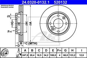 Reservdel:Citroen Ax 14 Bromsskiva, Fram, Framaxel