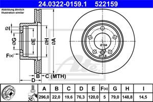 Reservdel:Bmw 525 Bromsskiva, Fram, Framaxel