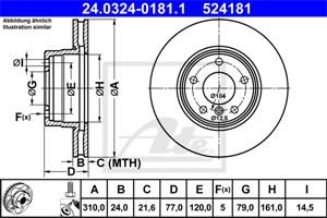 Reservdel:Bmw 525 Bromsskiva, Framaxel