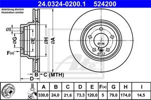Reservdel:Bmw 135 Bromsskiva, Framaxel