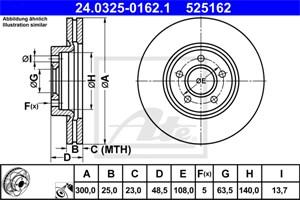Reservdel:Ford C-max Bromsskiva, Framaxel