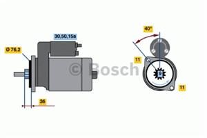 Reservdel:Fiat Tipo Startmotor