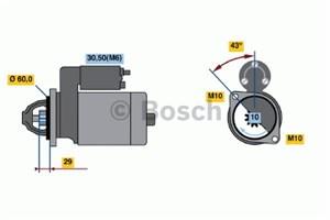 Reservdel:Mercedes E 280 Startmotor